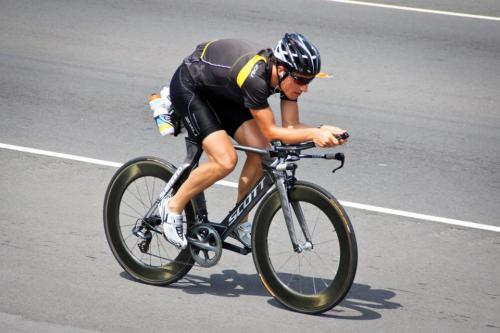 German Triathlete Sebastian Kienle preparing for the Ironman World Championships. Location: Big Island, Hawaiʻi Islands, USA Event: Ironman World Championship 2012 Month: September 2012