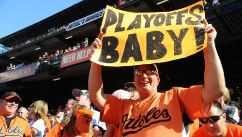 The Orioles beat Boston 6-3 on Sunday to clinch their first playoff berth since 1997. (US Presswire)