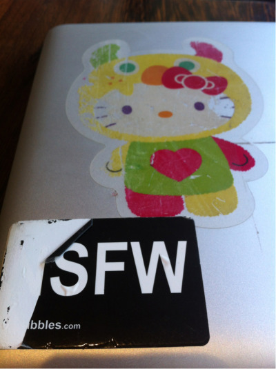 My NSFW sticker from Violet Blue has lost its N. Sad. Must get new one!