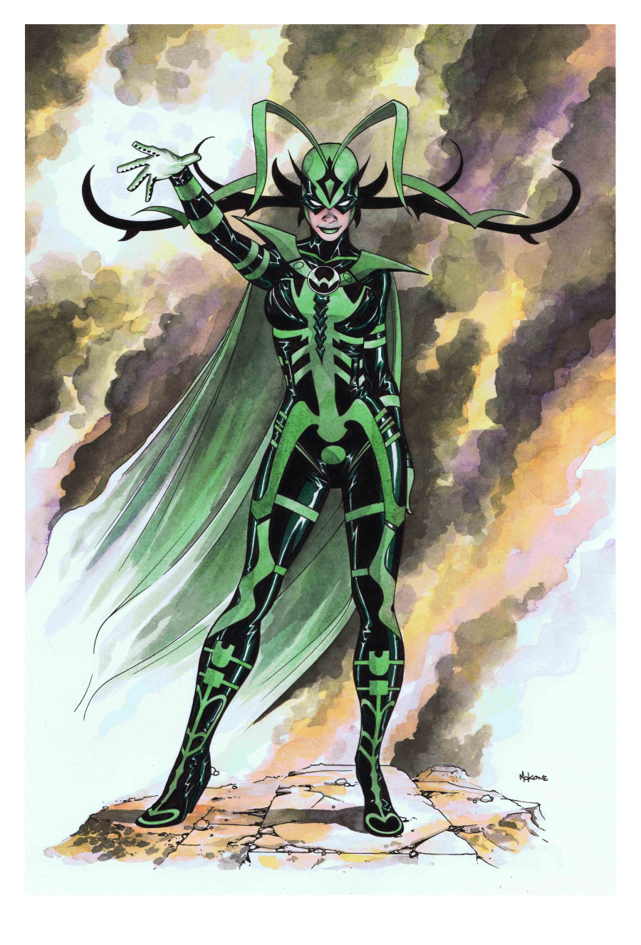 comicartappreciation:  Hela // Mike McKone  Wow, she is badass. She needs to be in the next Avengers. Or Thor. Or her own movie. OR SOMETHING