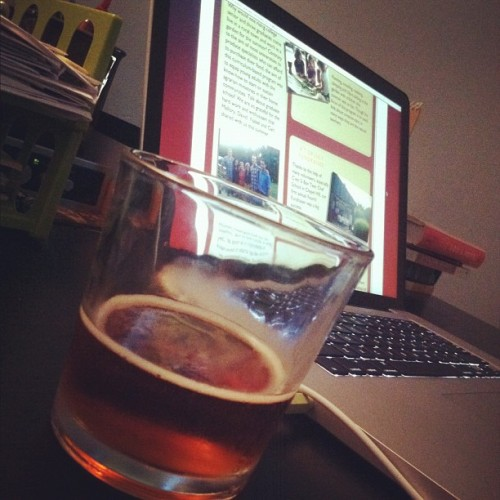 Doing internship work and enjoying a new pumpkin ale :) (Taken with Instagram)