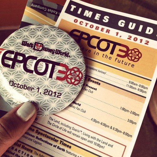 Happy birthday, Epcot! You're 30 now; look at yourlife, look at your choices (Taken with Instagram at World Showcase)