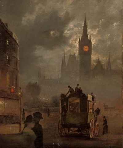 poboh:  St. Pancras at night, 19th Century English School.