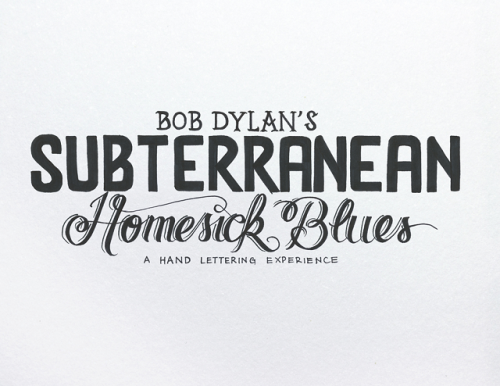 Video: Artist draws the lyrics to Bob Dylan's 'Subterranean Homesick Blues' Bob Dylan's most famous video Subterranean Homesick Blues features him dropping cue cards to the lyrics of the song. Brazilian artist Leanrdo Senna decided to do his own take on cue cards from the song WATCH HERE