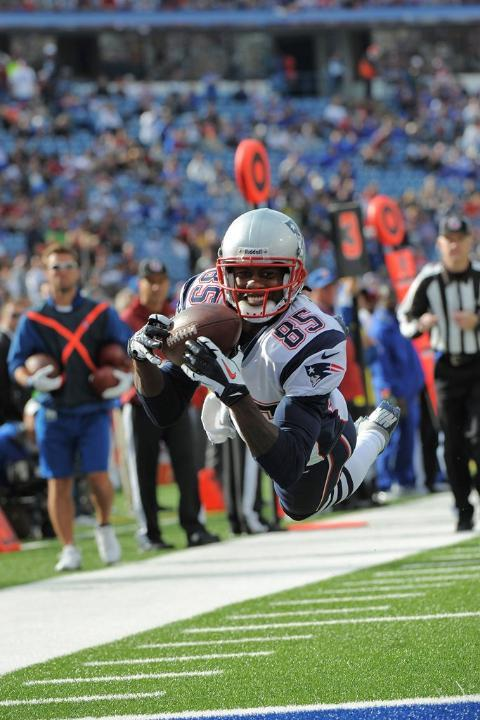 New England's Brandon Lloyd makes the most photographic touchdown in HISTORY.