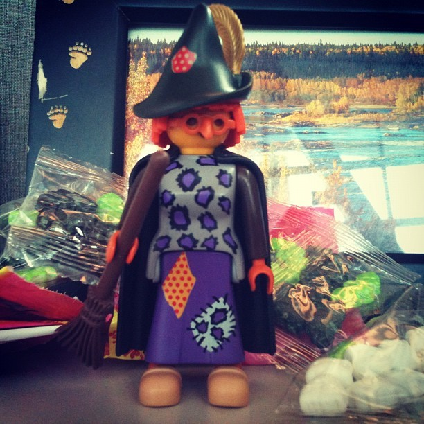 October means #halloween! #playmobil #witch (Taken with Instagram at SAIT Polytechnic (Aldred Centre))