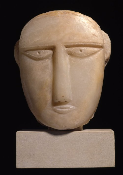 ancientpeoples:  Stele of a face Made in Yemen 3rd - 2nd Century BC  Ancient South Arabian (Source: The British Museum)