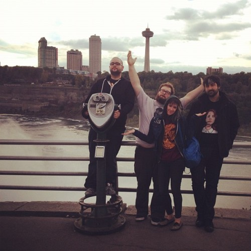Matt is screaming #suppy into the falls #niagarafalls (Taken with Instagram at Niagara Falls (American Side))