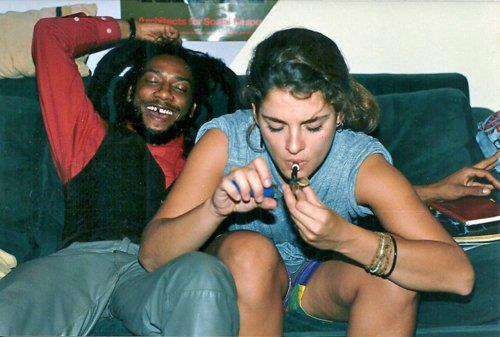 lurkervision:  Brooke Shields smoking pot with Bad Brains