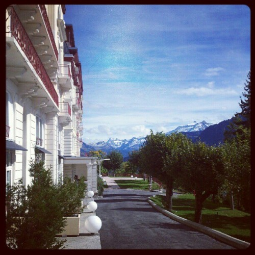 #leysin #shms #swiss #Suisse #autumn #view #school #mountains #Switzerland  (Taken with Instagram)