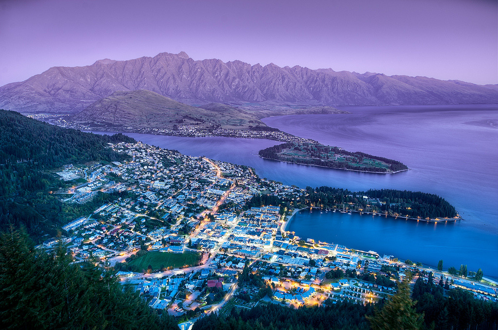 simplynorule:  The Queenstown Lookout - (HDR New Zealand) (by blame_the_monkey)