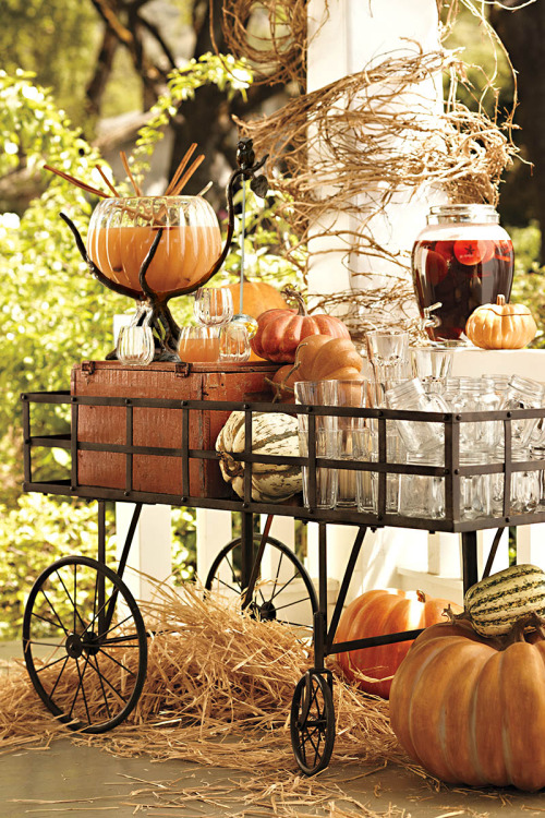 potterybarn:  Barnyard bar cart