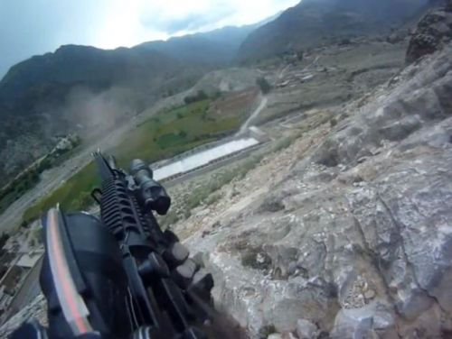 Whoa. Helmet-cam of a US soldier in Afghanistan being shot during a firefight. (He was OK.) It'd be nice if one of the presidential candidates spoke about this in more than the usual platitudes.