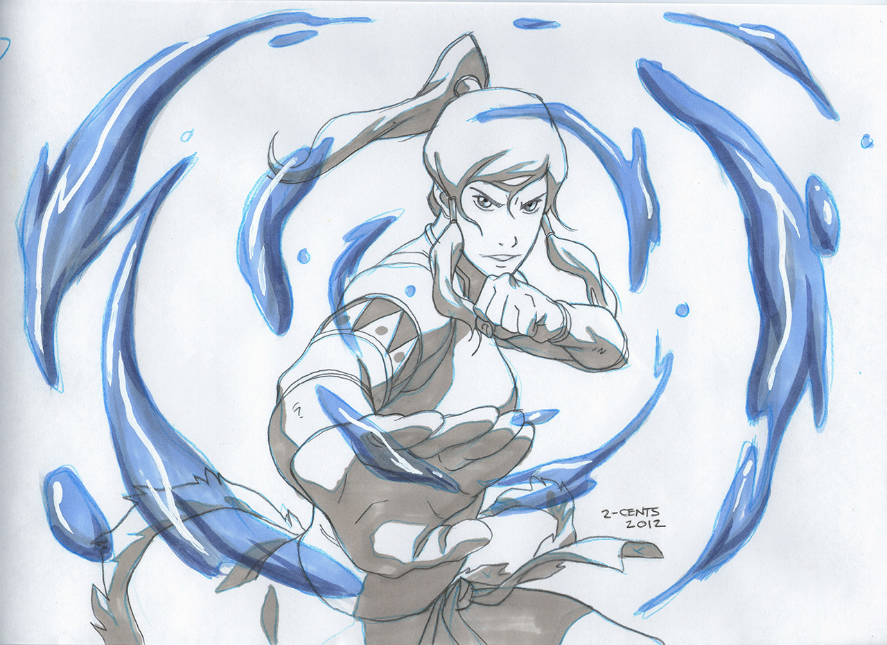 eduardowar:  Hey guys, last week I received from KorraNation the Korra sketch by Joaquim dos Santos! I scanned the poster for you!