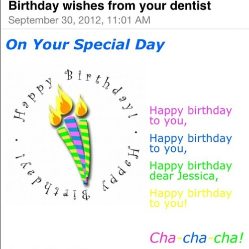 "Dentist Dr. Tony Wu is also a relationship marketer. He has a birthday email program…. with a ""cha-cha-cha!"" (Taken with Instagram)"