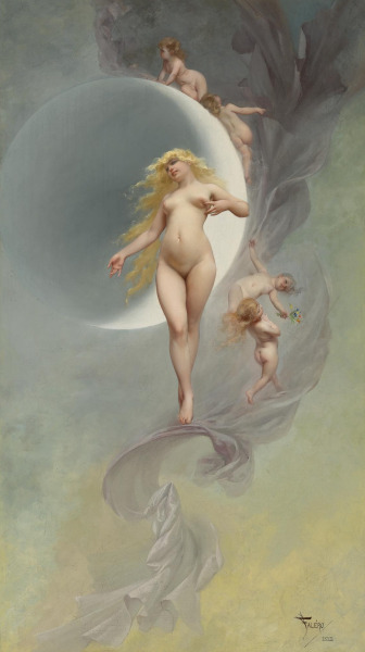 monsieurleprince:  Luìs Ricardo Faléro (1851 - 1896) - The planet Venus, 1882  This is beautiful. Fun fact. After sunlight and moonlight, the light reflecting off of venus(venuslight) is the third and last form of light coming from space that is able to leave shadows on earth!