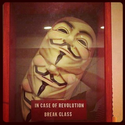 #revolution #guyfawkes #vendetta #protest #government #anonymous #allseeingeye #bigbrother #capitalism #fuckthesystem #illuminati #killuminati #5thnovember  (Taken with Instagram)
