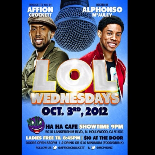 Join @affioncrockett & @mcphonz w/ #specialguests @hahacafecomedy 5010 Lankershim BLVD THIS WED 8:30PM $10 for #Comedy #Hilarious #Funny #LA (Taken with Instagram)