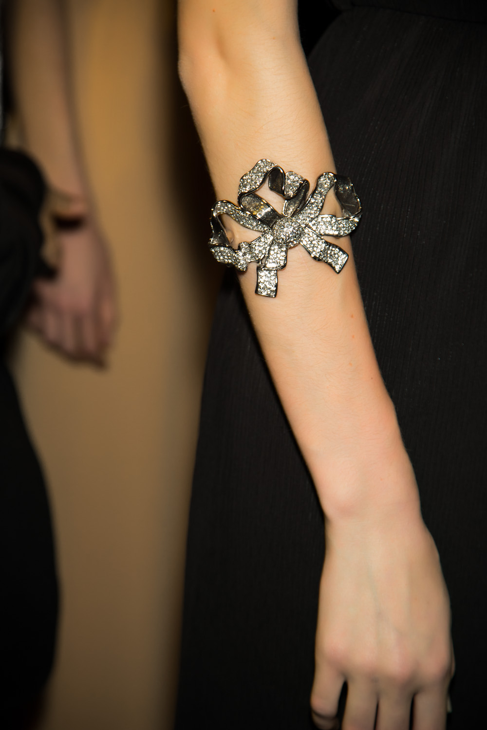 bow bracelet at Viktor & Rolf. Photo: Mark Leibowitz