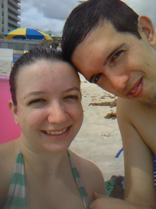 Me and Wayne at the beach yesterday. I had so much fun!