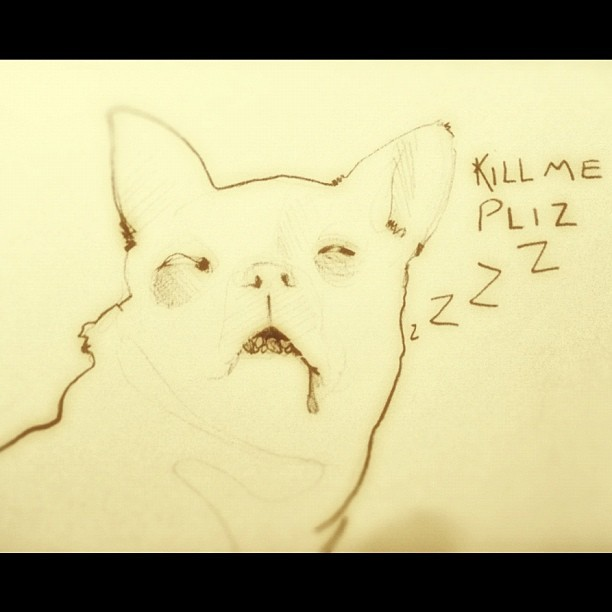 cobrazzo:  #killme #please #zzzz (Tomada con Instagram)  by Salvador Cobrero http://scarom.tumblr.com/