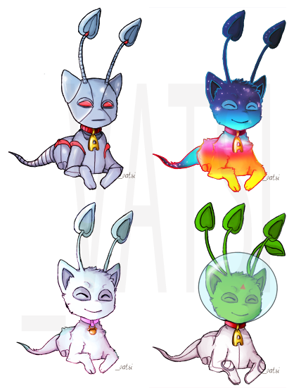 shaedoeneoart:  Just thought I would add my Aisha Adoptable set here. ALL AISHA COLORS ARE ON THIS PETPAGE: Karthalis UvU Have fun guys. You all know the rules with adopts~.