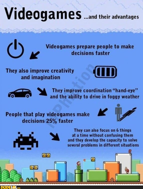 ragecomics4u:  The Benefits of Videogameshttp://ragecomics4u.tumblr.com