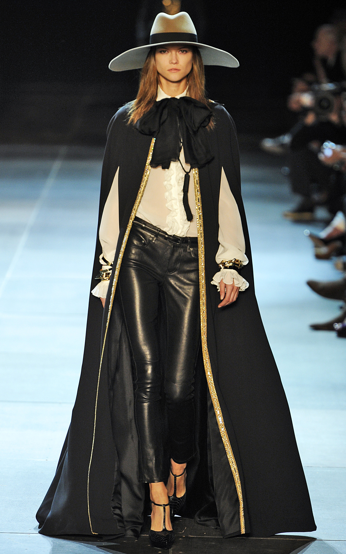 Photo by firstVIEW We tip our hat to you Hedi. Saint Laurent Spring 2013, Paris.
