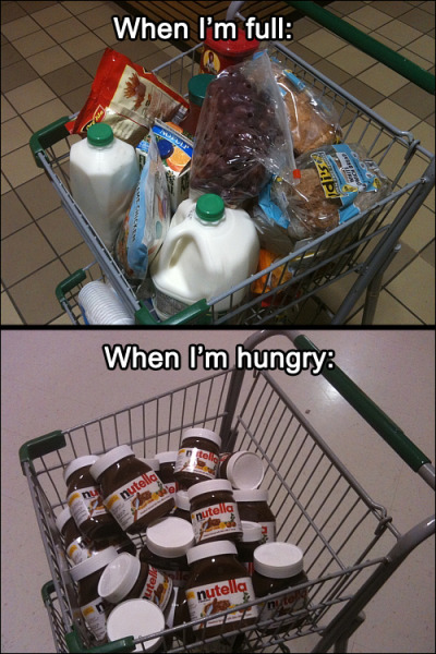 Why I never go to the grocery store when I'm hungry… Follow this blog for endless hours of laughter