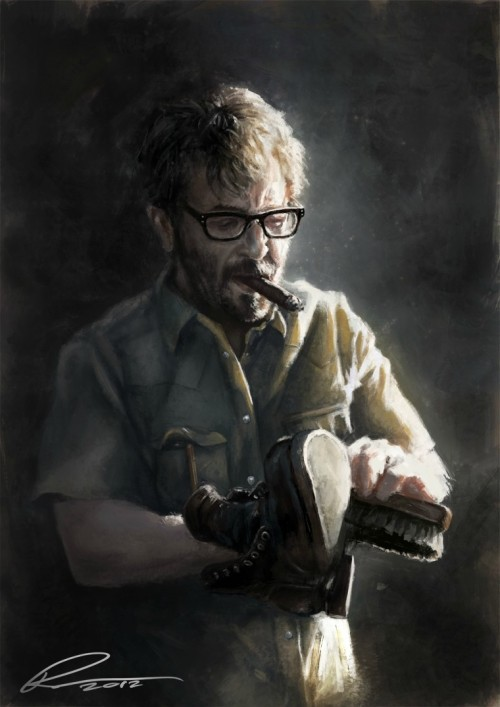 Marc Maron by Pavel Sokov.  [SF90s]