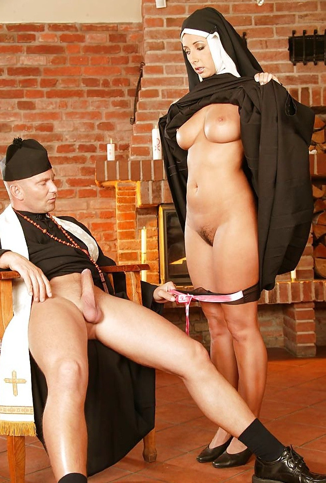Nun victoria brown fucks her pussy amp ass with a cross 9