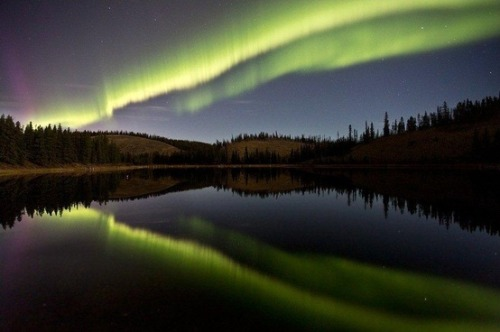 "Northern lights shine with the moon (Photo: Jonathan Tucker) The good news is that the northern lights hit the heights this weekend, with auroral displays visible as far south as Illinois — and the bad news wasn't all that bad. Sure, the glare of the ""Harvest Moon"" interfered somewhat, but you could argue that the moonlight added some extra shine to the show. The northern lights are such a subtle phenomenon that they're best seen from the countryside, far from city lights, and that was the case for Jonathan Tucker, who captured the ""September Lights"" you see above on Sunday night, near Whitehorse in Canada's Yukon Territory. Read the complete story."