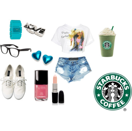 Barbie,Chanel,Fashion,Glasses,Mac,Shorts,Starbucks,Style,