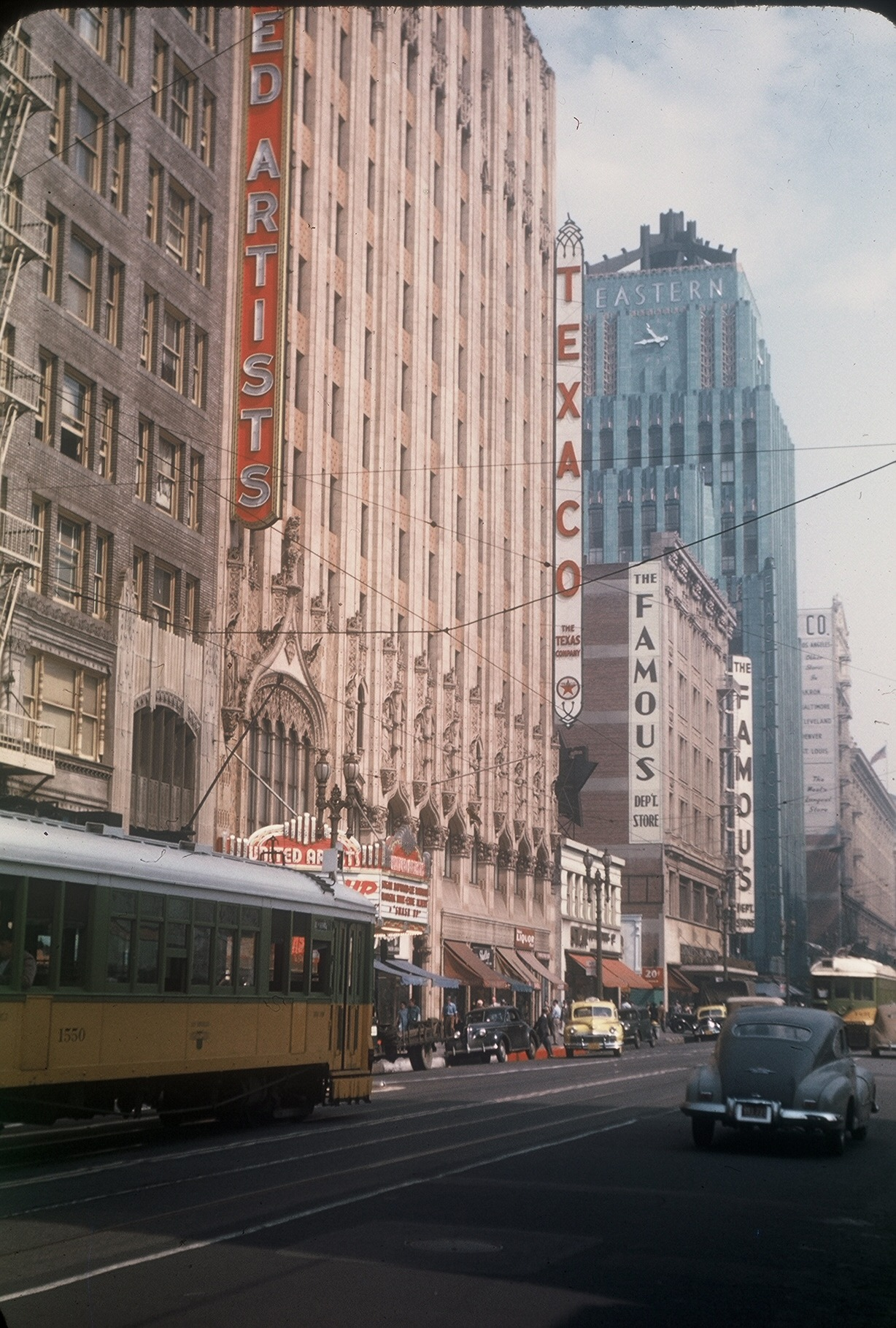 Color photos of Los Angeles from the 1940's