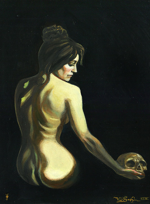 """Death and the Maiden"" by David Van Gough11""x14"" unframedoil on canvas$625.00"