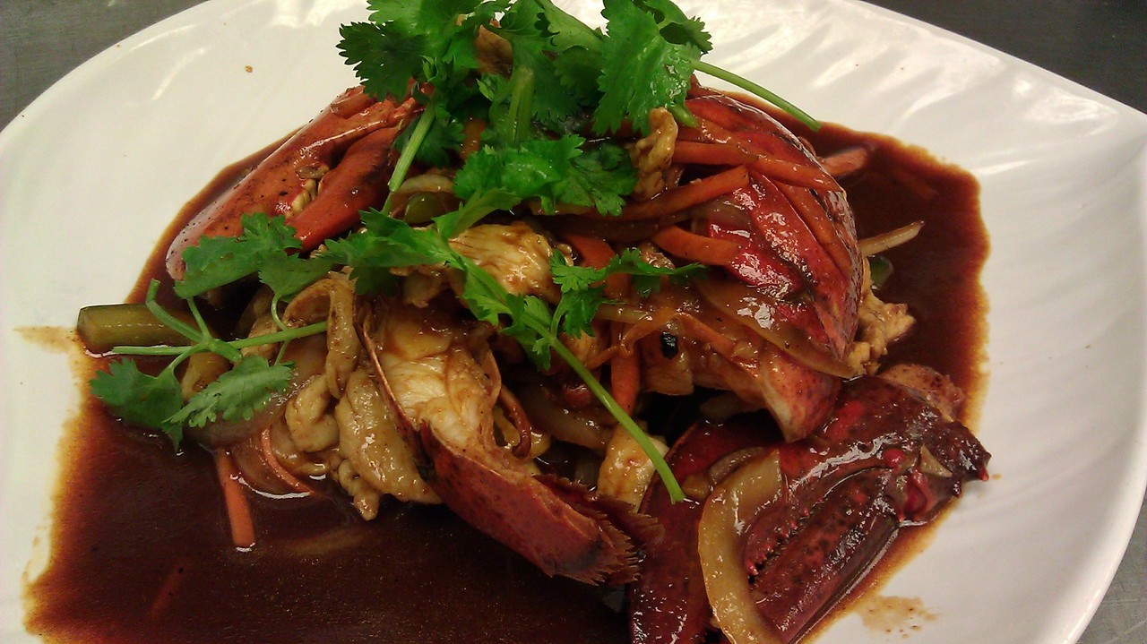 Not normally what we do for our Korean Stir-Fry but if you want lobster, we'll give you lobster!