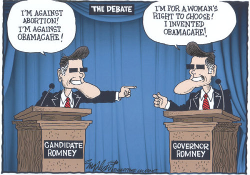 thenonprophet:  Who's on first? #DenverDebate  Seriously, what's with this character trying to run for president, smh
