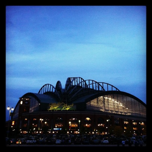 Beautiful night for baseball in Milwaukee. (Taken with Instagram at Miller Park)