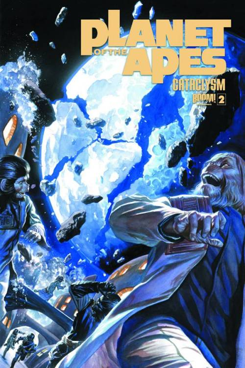 Market Monday Planet of the Apes: Cataclysm #2, co-written by Corinna Bechko  Eight years before Astronaut George Taylor fell from the stars…the stars fell on the PLANET OF THE APES! As fragments of the planetary body that once was Earth's moon begin to fall on Ape City, Doctor Zaius must find a way to bring the survivors together, before panic and fear plunges them all into chaos!  ~Preview~