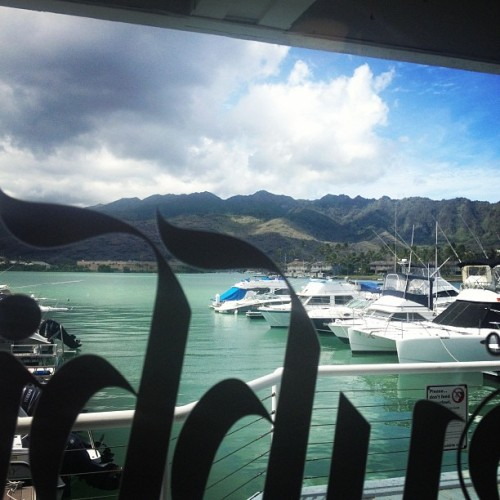 Just the view from the coffee shop.  (Taken with Instagram at Moena Cafe)