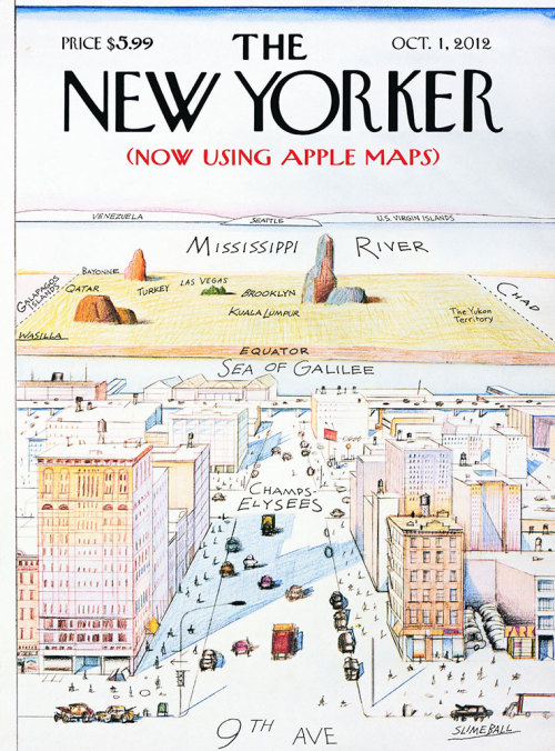 thisistheverge:  Apple Maps Wreak Havoc with New Yorker Cover | Mad Magazine  EPIC