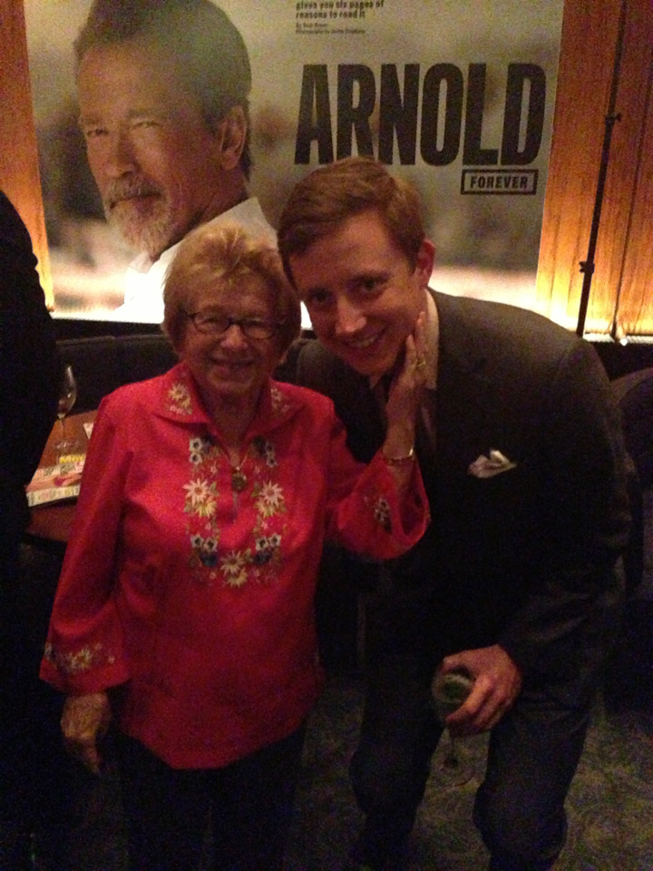 Yes, this is Dr. Ruth. Yes, that is me with Dr. Ruth.   Woooo!