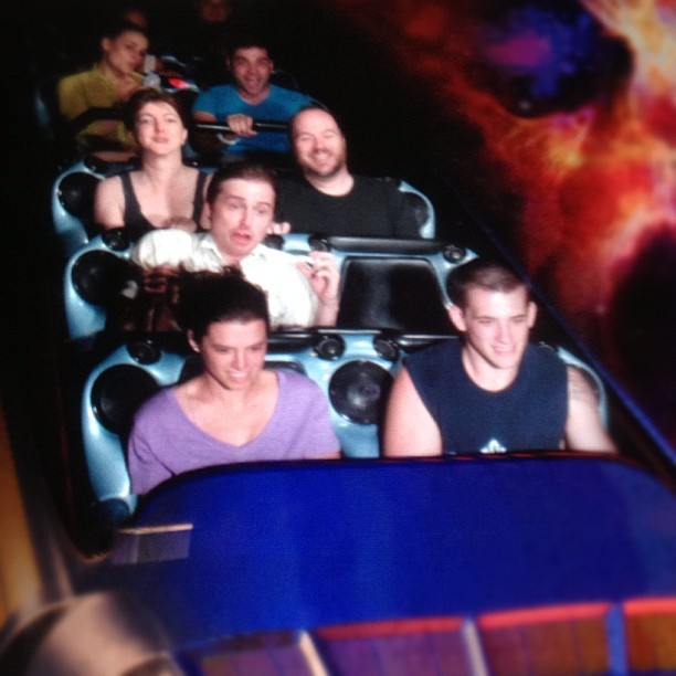 Jon loves Space Mountain (Taken with Instagram at Space Mountain)