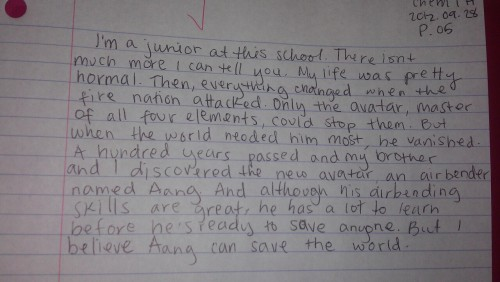 lysistratas:  either my chem teacher didnt read my about me paragraph or he just really doesnt care
