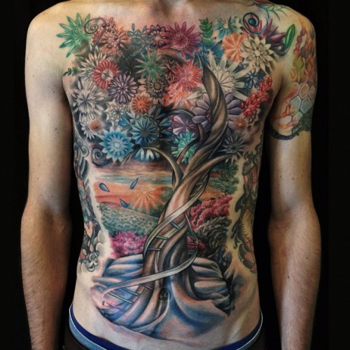 allentattoo:  Tree of Life, finished! (Taken with Instagram at Pioneer Tattoo)
