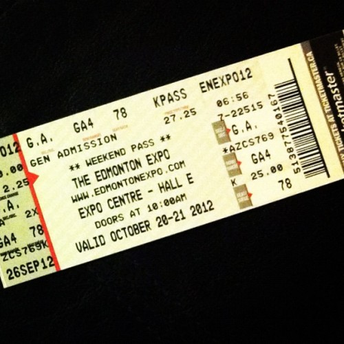 Got our Edmonton Comic Con tickets!!!! (Taken with Instagram)