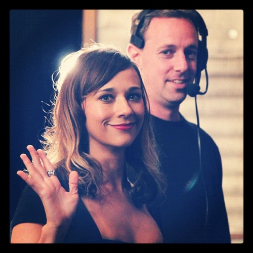 teamcoco:  Rashida Jones backstage. (Taken with Instagram at Warner Bros Stage 15)