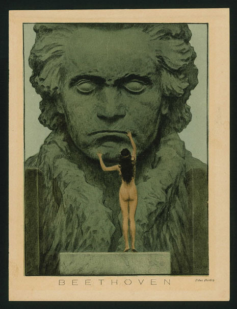 Hugo Höppner, called Fidus: Draft for a Beethoven temple (1903)