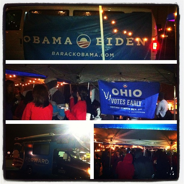 Here at the Franklin County #OHVotesEarly campout!! Voting starts TOMORROW!! (Taken with Instagram)