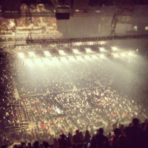 Packed on a Monday night for Hov. (Taken with Instagram)